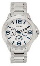 NWT Fossil BQ2239 Silver-Tone 43mm Men's Watch $145