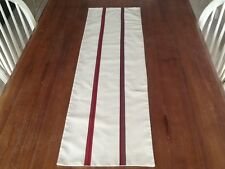 Laura Ashley Table Runner Silk Striped. Coffee Table Fully Lined New  STUNNING!!