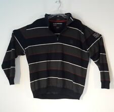 Paul & Shark 100% Wool yachting quarter zip sweater Mens 2XL with Patches
