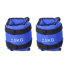 2x 2.5kg Ankle Weights Home Gym Equipment Wrist Fitness Yoga Training 5kg AU