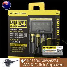 Nitecore D4 Smart Battery Charger LCD Digicharger IMR Li-Ion NiMH-Cd LiFePO4