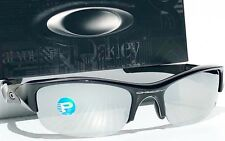NEW* Oakley FLAK JACKET Black Galaxy POLARIZED Mirror & Grey Lens Sunglass 9008