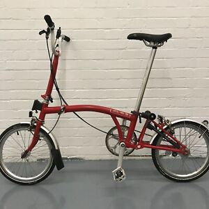 KING FRANK BROMPTONS: Brompton M3L House Red - Global Shipping