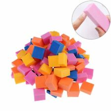 colorful mini irregular nail buffers sanding  nail art tool random color/