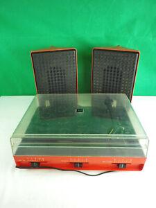 RFT Ziphona Combo 523 DDR Plattenspieler mit Boxen Stern-Radio Farbe rot sn50