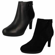Ladies Clarks Stylish Heeled Ankle Boots Adriel Mae