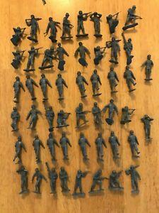 Marx Vintage 54mm WWII Battleground German Infantry- dark grey 50 random figures