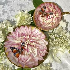 Aynsley butterfly chysanthemum tea cup and saucer