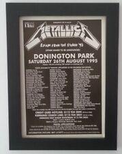 More details for metallica*donington*1995*original*a4*advert*framed*fast world ship