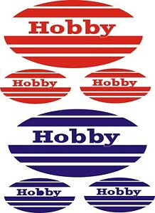 HOBBY CARAVAN 4 PIECE OVAL   STICKERS