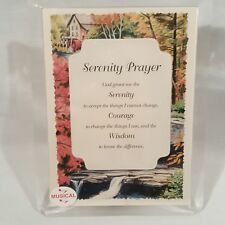 Serenity Prayer Musical Lucite Photo Frame Plays Amazing Grace Usa