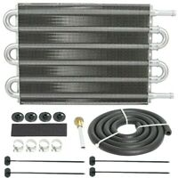 HEAVY DUTY ALUMINUM 6 ROW TRANS-MISSION OIL COOLER HIGH PERFORMANCE TOW-ING KIT