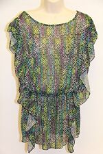 NWT Jessica Simpson Swimsuit Cover Up Tunic Dress sz S Green