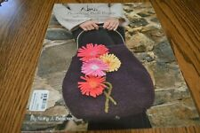 Noni Bowling Ball Bags w/Gerbera Daisies Felted bag purse hand knitting pattern