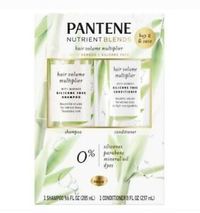Pantene Shampoo/Conditioner Nutrient Blends Hair Volume Multiplier With Bamboo