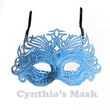 Blue PVC Venetian Mask BZ304A for  Masquerade Halloween Costume Party & Display