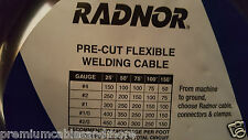 Radnor Flex-A-Prene #1/0awg #0 Flexible Welding/Battery Cable Black 105C /10ft