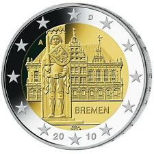 2010 Germany 2 Euro Uncirculated Coin Bremen City Hall & Roland - Munich (D)
