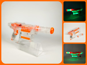 NERF Ghost-Ops   SHADOW ICS - 6   Clear & Light-up Glow Pistol Blaster Gun