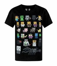 "New MINECRAFT Youth Boy's Short Sleeves ""Minecraft All Characters"" Sz M 10/12"