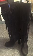 Suede tassle boots by dune size 5 new