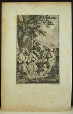 Géorgiques Virgile chant II (?) GRAVURE de Joseph DE LONGEUIL d'ap Charles EISEN
