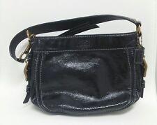400207f97cd7 Coach Zoe mini F41869 Black Patent Leather Shoulder black genuine-original- purse