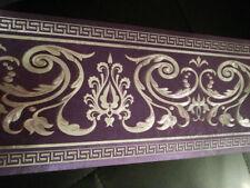 wunderschöne Barock Bordüre lila ,VERSAC 5m lang 17,7 cm breit