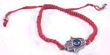 Khamsa Judaica Bracelet Mauvais Oeil Charm Kabbale Main Rouge