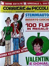 Corriere dei Piccoli 33 1971 Valentina Mela Verde Dany Futuro Yorik di Eddy Paap