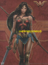WONDER WOMAN POSTER DC GAL GADOT JUSTICE LEAGUE AMERICA SPEAR SWORD LASSO SHIELD