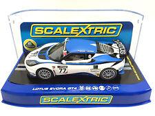 "Scalextric ""Avon Tyres"" Lotus Evora GT4 DPR W/ Lights 1/32 Scale Slot Car C3599"