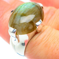 Large Labradorite 925 Sterling Silver Ring Size 6.75 Ana Co Jewelry R53992