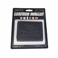 New NFL Tennessee Titans Embossed Tri-Fold Black Genuine Leather Men Wallet