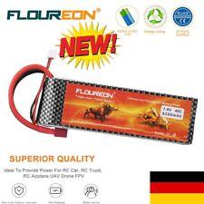 FLOUREON 7.4V 6200mAh 40C 2S LiPo RC Car Akku Batterie Pack für RC Auto Fahrzeug