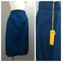 1960s Pencil Skirt / NWT Royal Blue High Waist Fitted Skirt / Women's Small