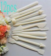 Hot 12pcs/set Cake Modelling Tools Set Fondant Clay Cutter Carve Mould Mold Tool