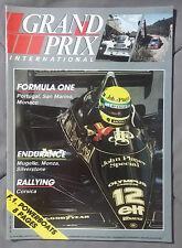 1985 JUNE GRAND PRIX INTERNATIONAL MAGAZINE F1 GP MUGELLO MONZA SILVERSTONE