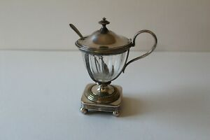 Rare French Christofle Mustard / Preserve Pot with Spoon