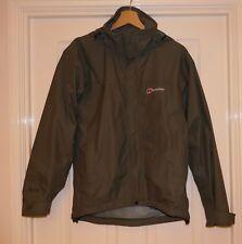 Berghaus AQ2 Impermeable Verde Abrigo Chaqueta Con Capucha, Talla XS,