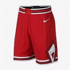 New Nike Nba Sz 30 S Chicago Bulls Swingman Basketball Shorts Red 866789 657
