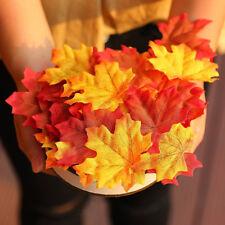 100pcs Autumn Maple Leaves Fake Artificial Multi Colored Leaf Garden Decorations