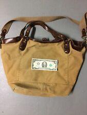 8bb28c0853 Polo Ralph Lauren Rugby Canvas Leather Messenger Bag Purse Beach Bag