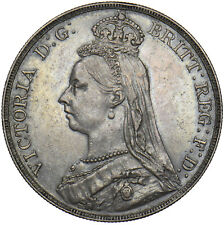 More details for 1889 crown - victoria british silver coin - very nice