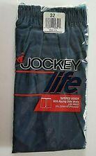 Vintage 1991 Jockey Life Tapered Boxer Shorts Mens Sz 32 Racing Side Vents, Blue