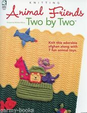 Animal Friends Two by Two Knitting Baby Afghan Toys Noah's Ark Pattern Book NEW