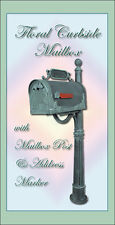 Special Lite Floral Curbside Mailbox w/ Post, Address Marker & Topper Panel!