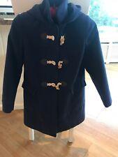 Girls JOHN LEWIS BLUE DUFFLE HOODED COAT AGE 10 Paddington Coat *Immaculate*