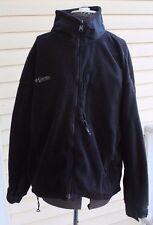 Columbia TITANIUM Womens Polar Fleece & Nylon Jacket Black size XL