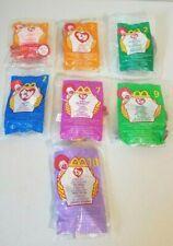 Lot of 7 Ty Beanie Babies Lips Fish, Mel Koala, Stretchy Ostrich, Etc McDonald's